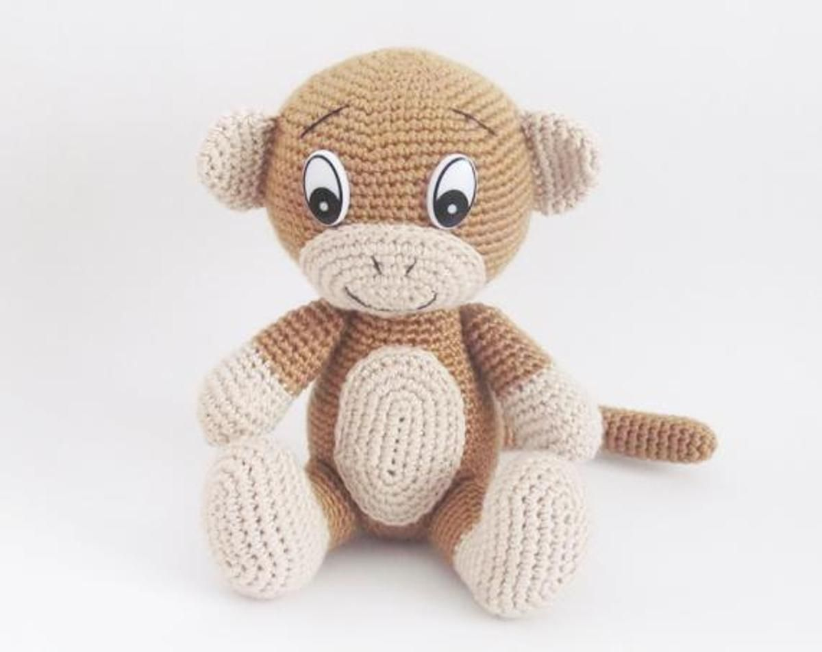 Cute Monkey - Amigurumi Pattern | Craftsy | The Hobby Hut ...