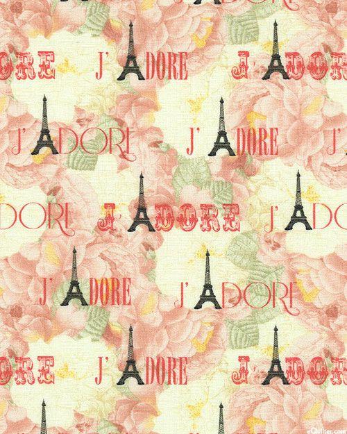 bonjour mon amour j 39 adore la tour eiffel quilt fabrics. Black Bedroom Furniture Sets. Home Design Ideas