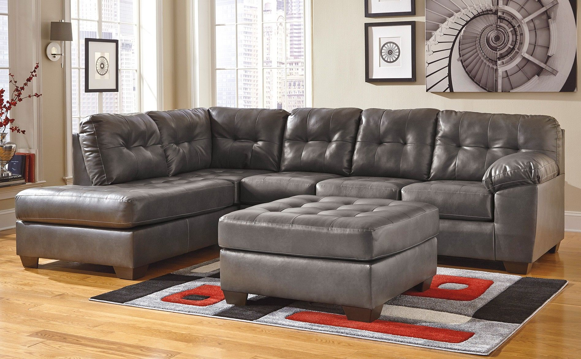 Marlo Furniture Sectional Sofa & Katisha Platinum 2 Piece