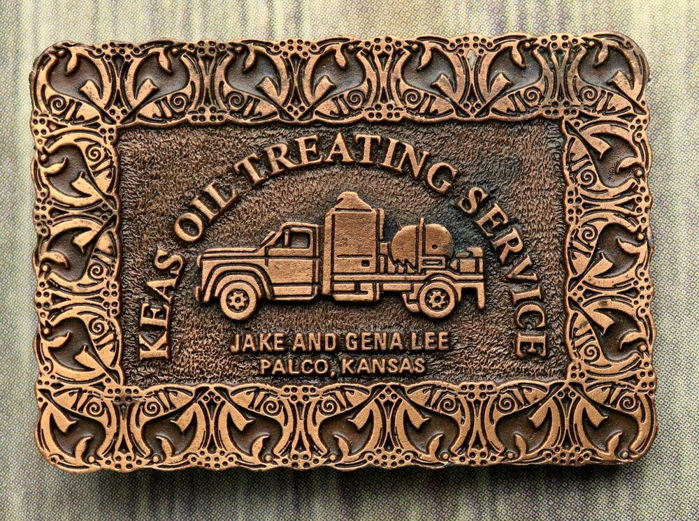 Keas Oil Treating Service Belt Buckle Palco Ks Hitline Usa Roughneck Rig Truck Hitlineusa Belt Buckles Buckle Roughneck