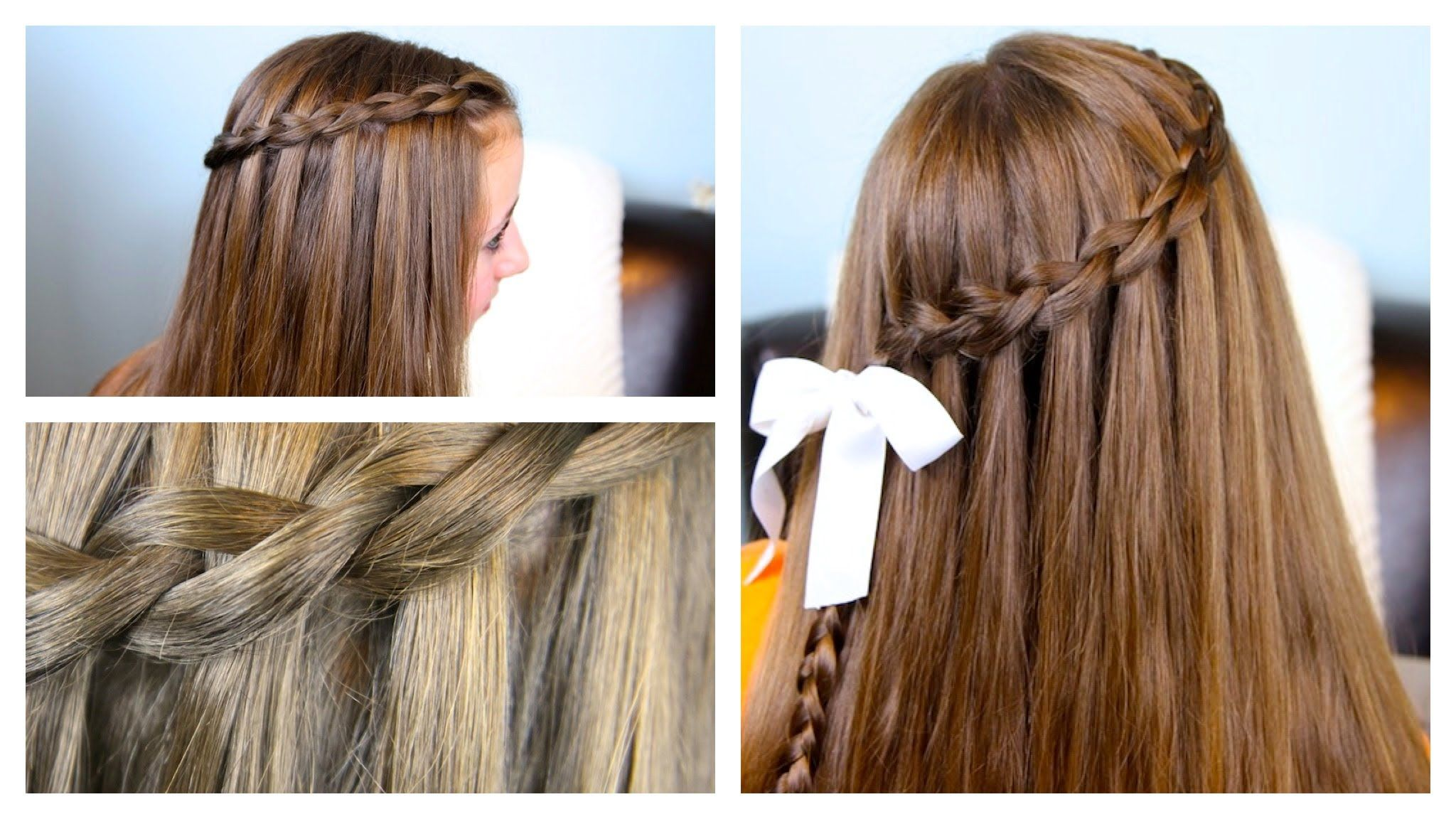 The dutch waterfall braid cute girls hairstyles peinados