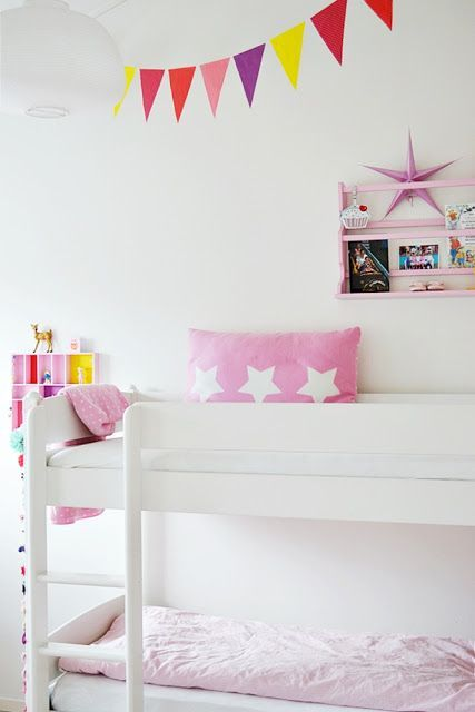 girly bunk bed | Kids Room | Pinterest | Dormitorios blancos ...