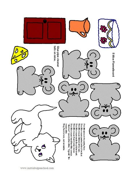 image regarding Printable Felt Board Stories identify felt board habits 5 Mice Upon The Kitchen area Flooring Flannel