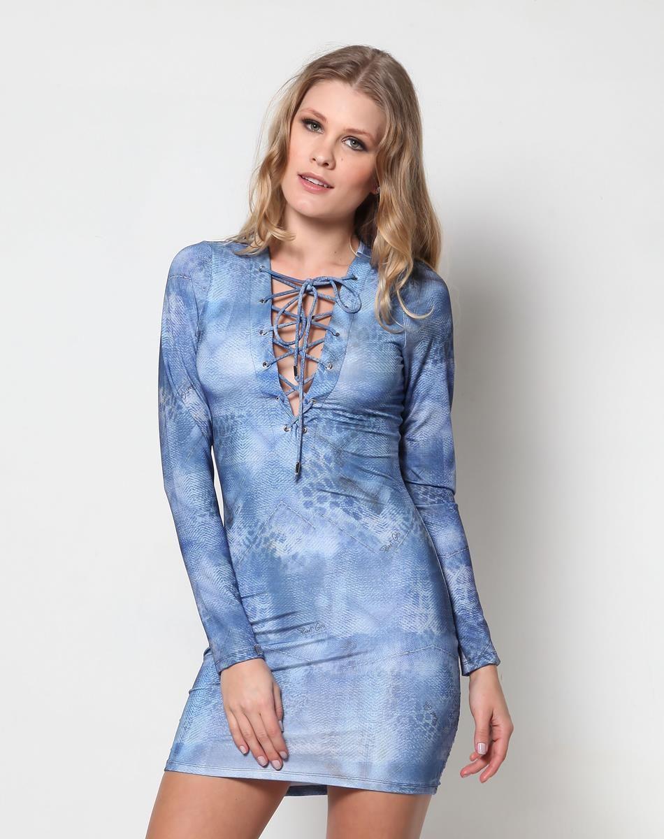 Vestido Decote Cruzado Planet Girls Dresses Em 2019