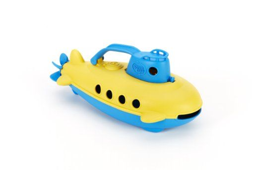 This Green Toys Submarine is free of BPA, Phthalates, PVC, or external coatings, and is made of recycled milk jugs.