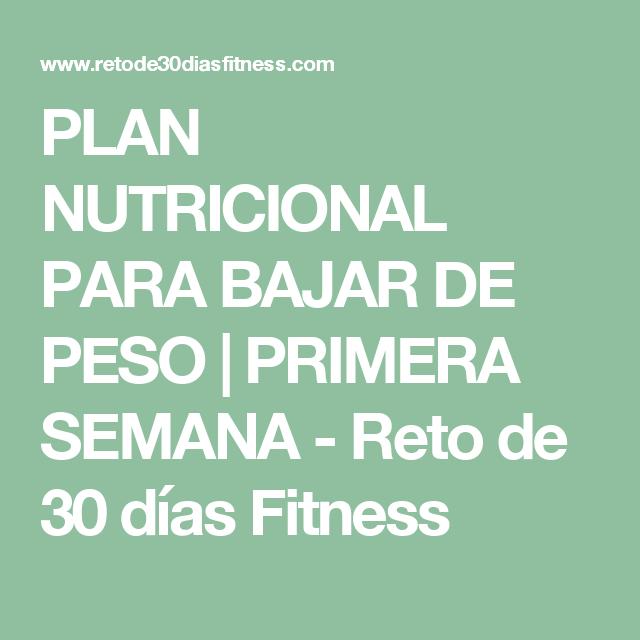 Dieta de 30 dias para bajar de peso