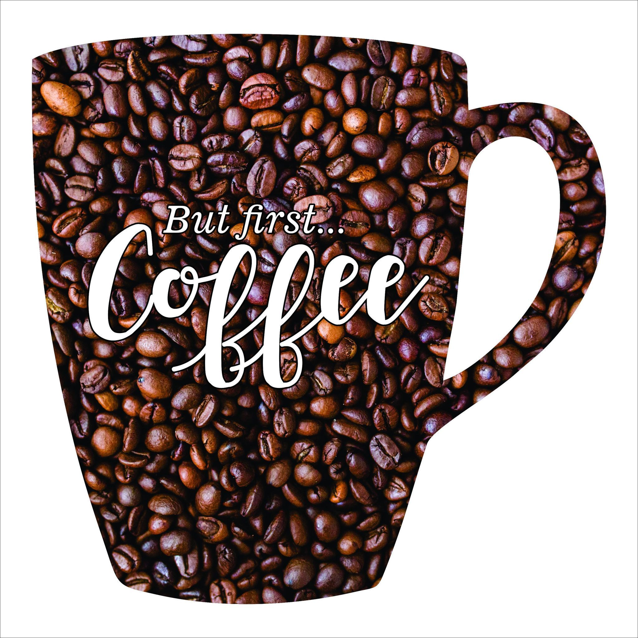 Coffee Imagery Sign Coffee Art Coffee Bagel Custom Metal Art