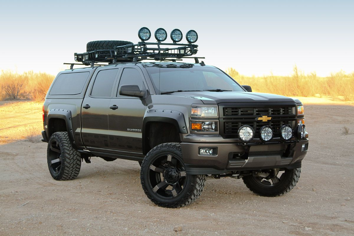 Chevy Silverado Cargo Roof and Offroad Light Bars Chevy