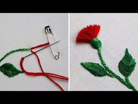 Hand Embroidery : Hack To Make Tassels Using Safety Pin | Tassel Flower - YouTube #sewingbeginner