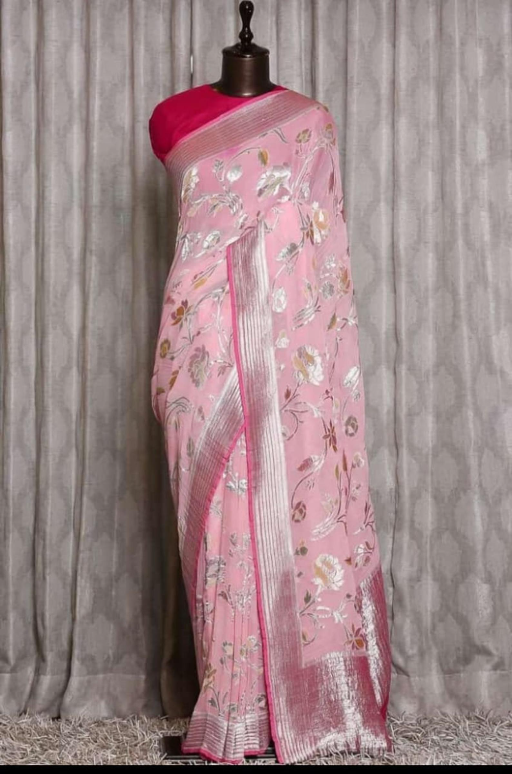 Banarasi pure khaddi georgette handloom sarees | E
