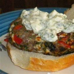 Loaded Greek Burgers Allrecipes.com