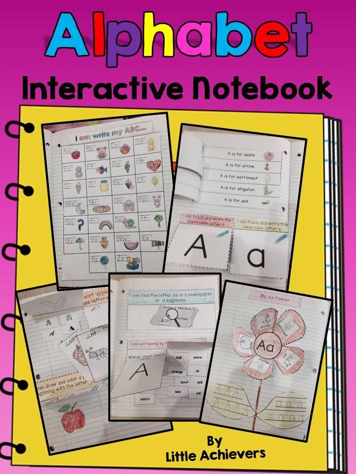 Interactive alphabet notebook pre k and kindergarten for Alphabet letter notebook