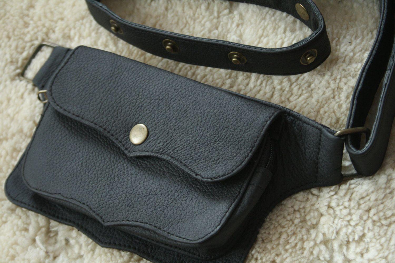 Leather utility belt, festival hip bag, belt pouch, hippie