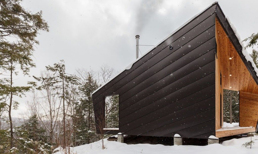 House Prefab tiny cabin perched on a
