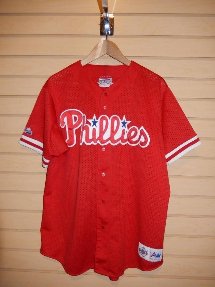 40f755c9 Philadelphia Phillies Diamond Collection Jersey Majestic #21 Red Sewn USA  MLB XL #Majestic #PhiladelphiaPhillies