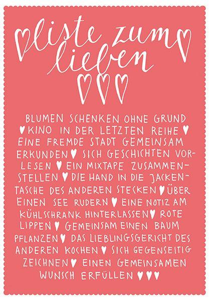 Postkarte Larifari Liste Zum Lieben Von Larifariladen