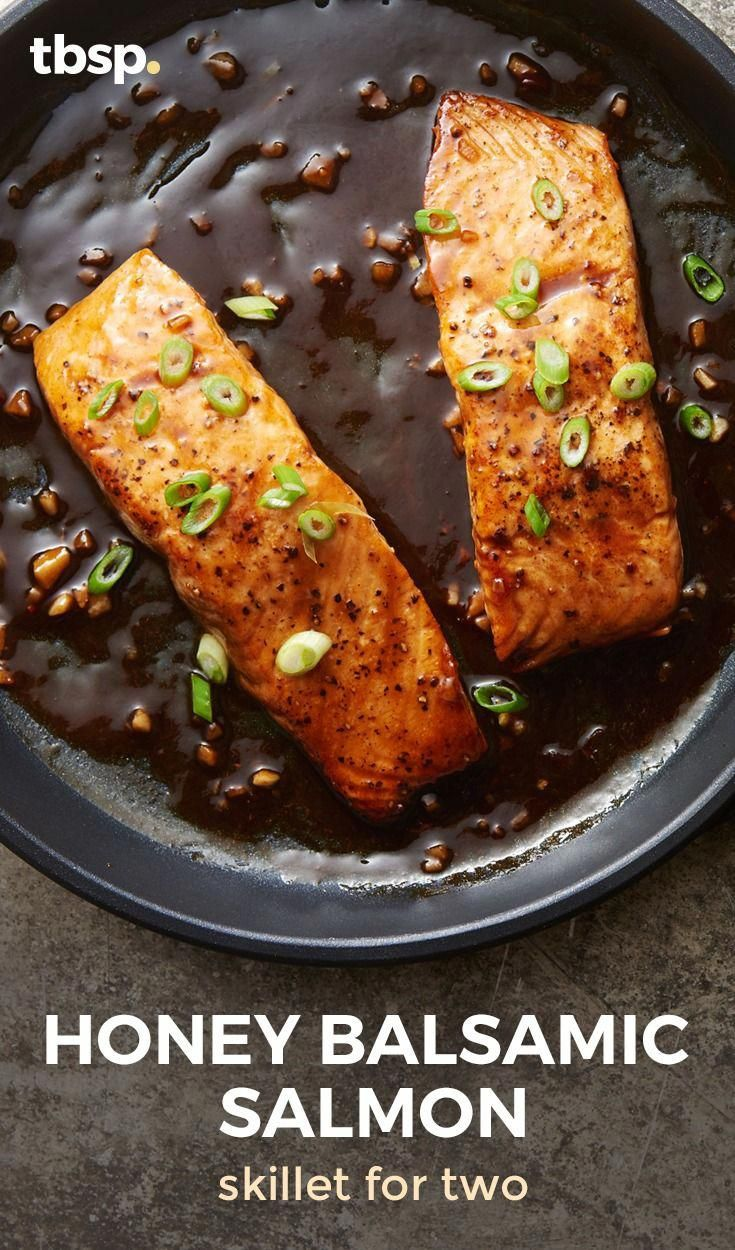 Whether you're a pro at turning out beautiful salmon dinners, or this is your first try, this gorgeous pan-seared salmon drizzled with tangy honey-balsamic sauce is guaranteed to earn you major bragging rights. #Recipes #searedsalmonrecipes