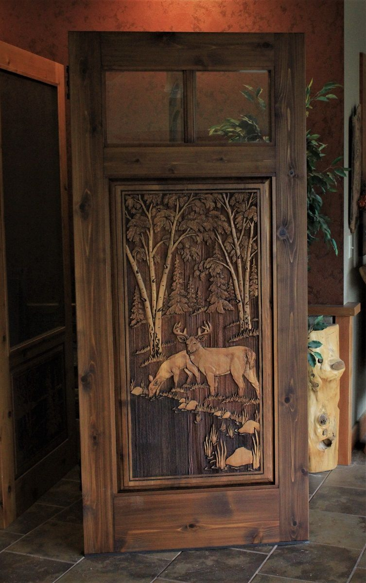 Pin By Great River Door Company On Carved Wood Doors Rustic Doors Wooden Doors Cabin Plans With Loft