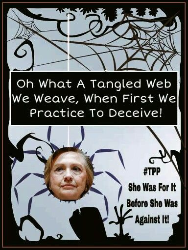 Stoptpp Shillary S Tangled Web By Rosevine3 Nofreetrade
