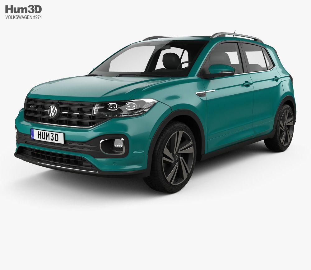 3D model of Volkswagen TCross RLine 2019 Volkswagen