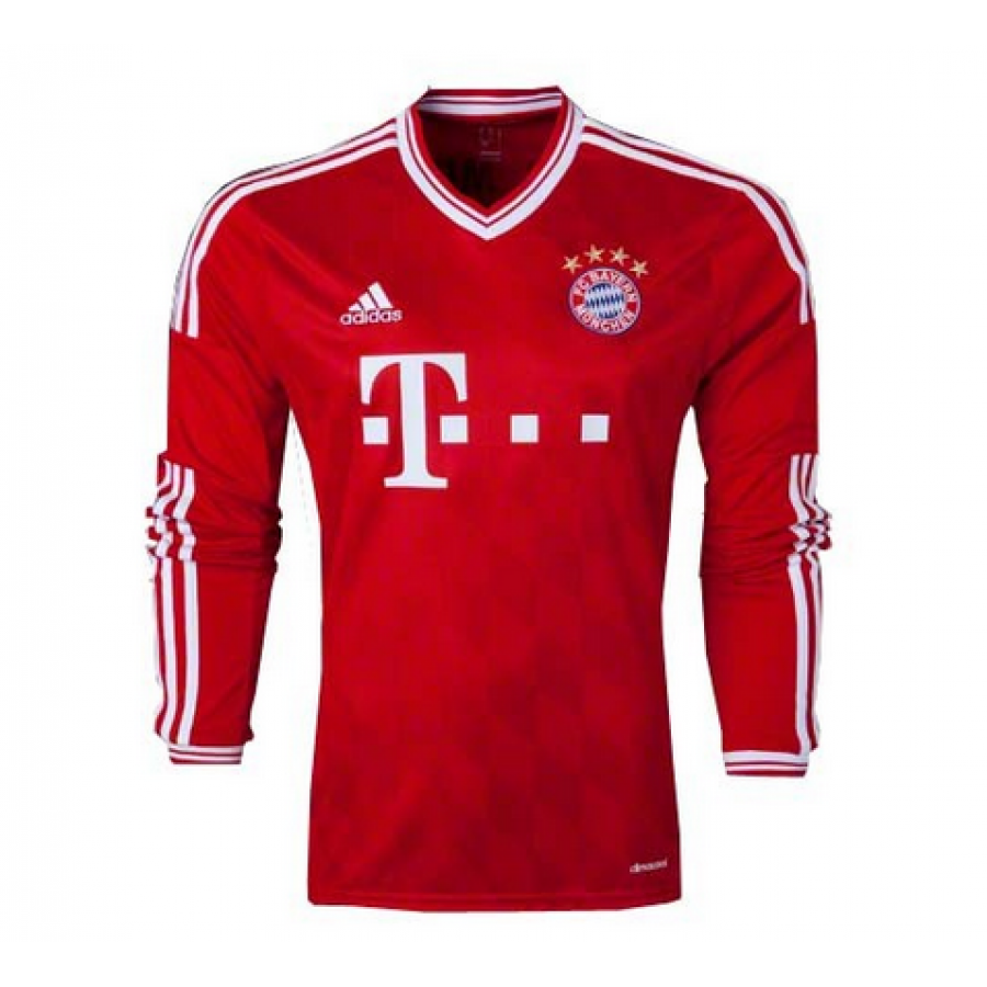 Cheap Bayern Munich Home LS Football Shirt Custom