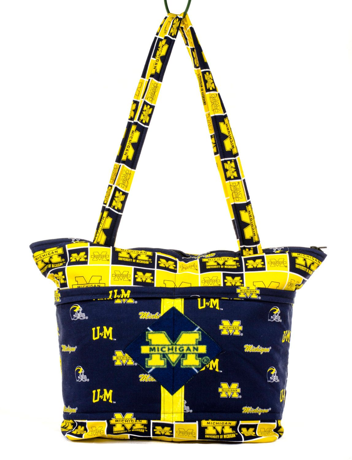 University Of Michigan Baby New Dad Gift Maize And Blue Wolverines Back To School Bag Daddy Diaper For Him Etsy Vintage