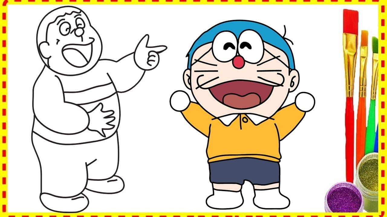 Wrong Body Doremon or Nobita Funny Drawing and Coloring Pages ...