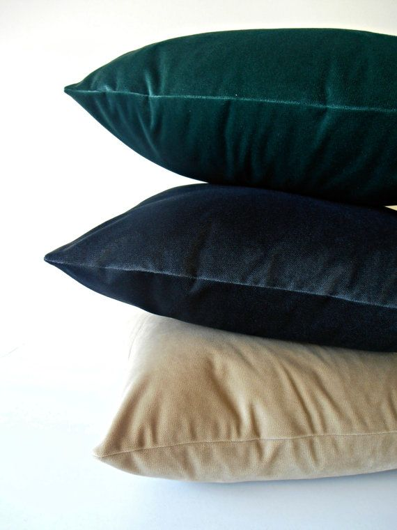 Forest Green Velvet Pillow Cover - forest velvet cushion ...