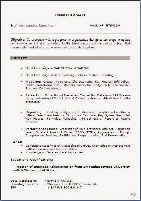 Download Resume Free Sample Template Example Ofexcellent