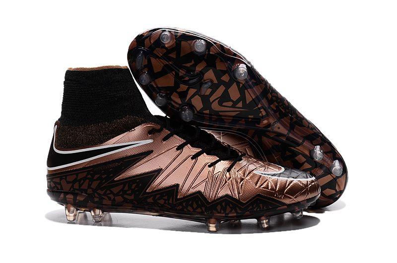 47bbe9f45d3 2017 Nike Hypervenom Phantom Premium II FG brown soccer cleats ...