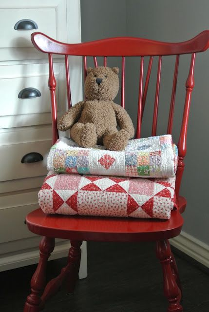 Rocking chair for quilt display