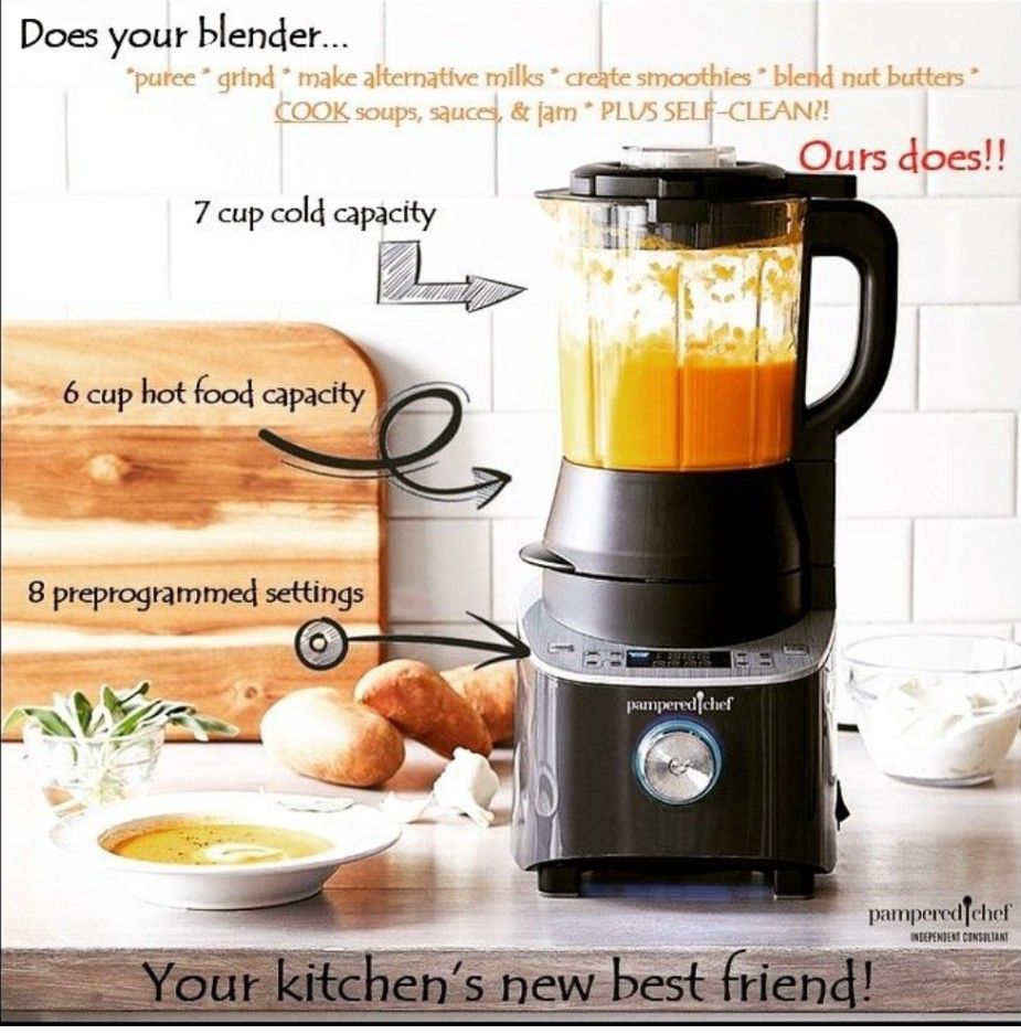 Pampered Chef New Deluxe Cooking Blender Pampered Chef Consultant Pampered Chef Baby Food Recipes