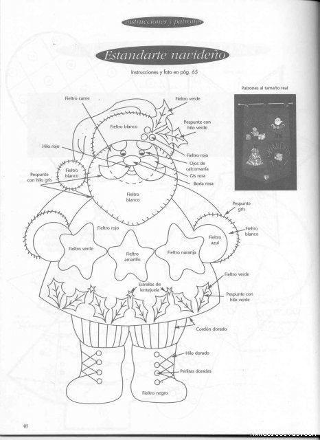 Decoracion Navidad. Patron Santa Claus. Ideas para Decoracion ...