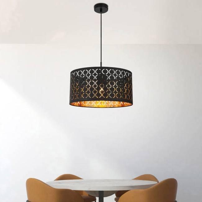 Lampa Wiszaca Harald 1 X 60 W E27 Czarny Zloty Lampy Wiszace Home Decor Decor Pendant Light