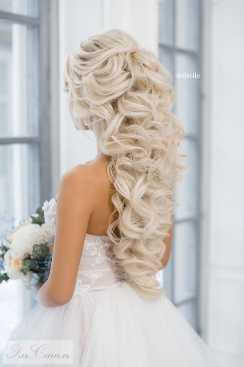 e25109afd68 Свадебные прически на длинные волосы - большой простор для фантазии  стилиста и самой невесты. Предлагаем