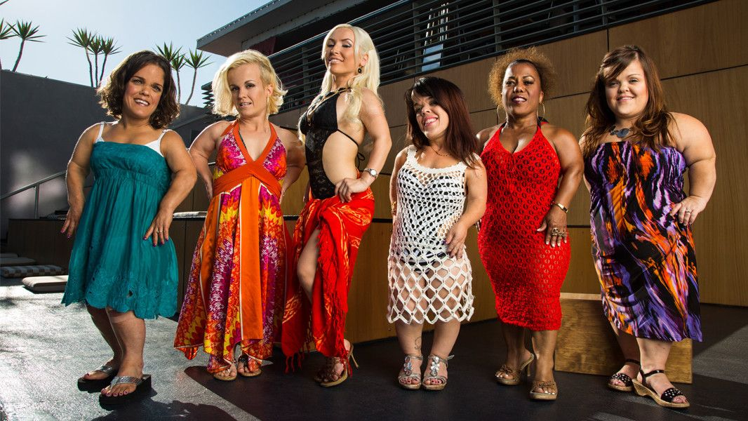 The cast of Little Women: L.A. Left to right: Traci, Terra, Elena, Briana, Tonya, and Christy. Best new show of 2014!