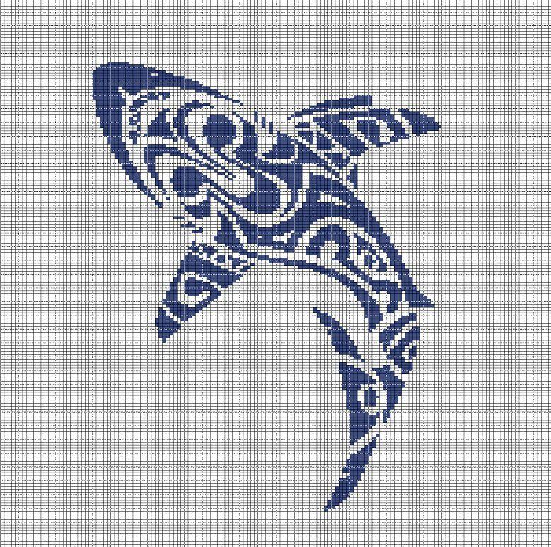 TRIBAL+SHARK+2+CROCHET+AFGHAN+PATTERN+GRAPH | stuff for printing ...