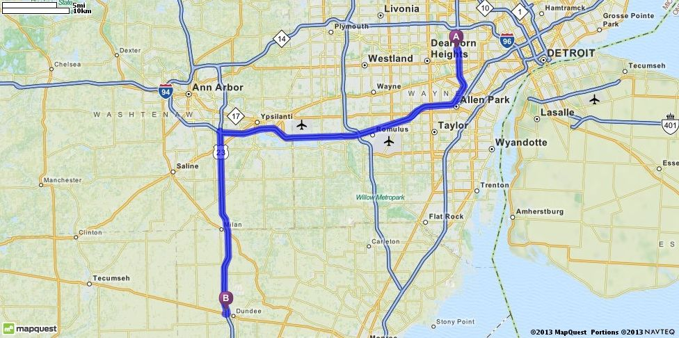 Mapquest Michigan Map.Driving Directions To Cabelas In Dundee Michigan 48131 Mapquest