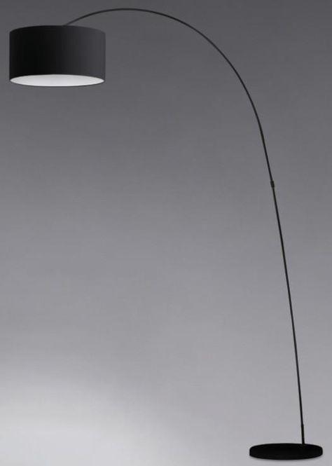 PAPUA PIANTANA ARCO NERA Lampade moderne da terra | luci | Pinterest