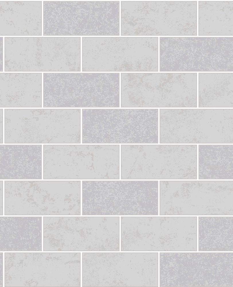 fine decor ceramica grey subway tile wallpaper  the home
