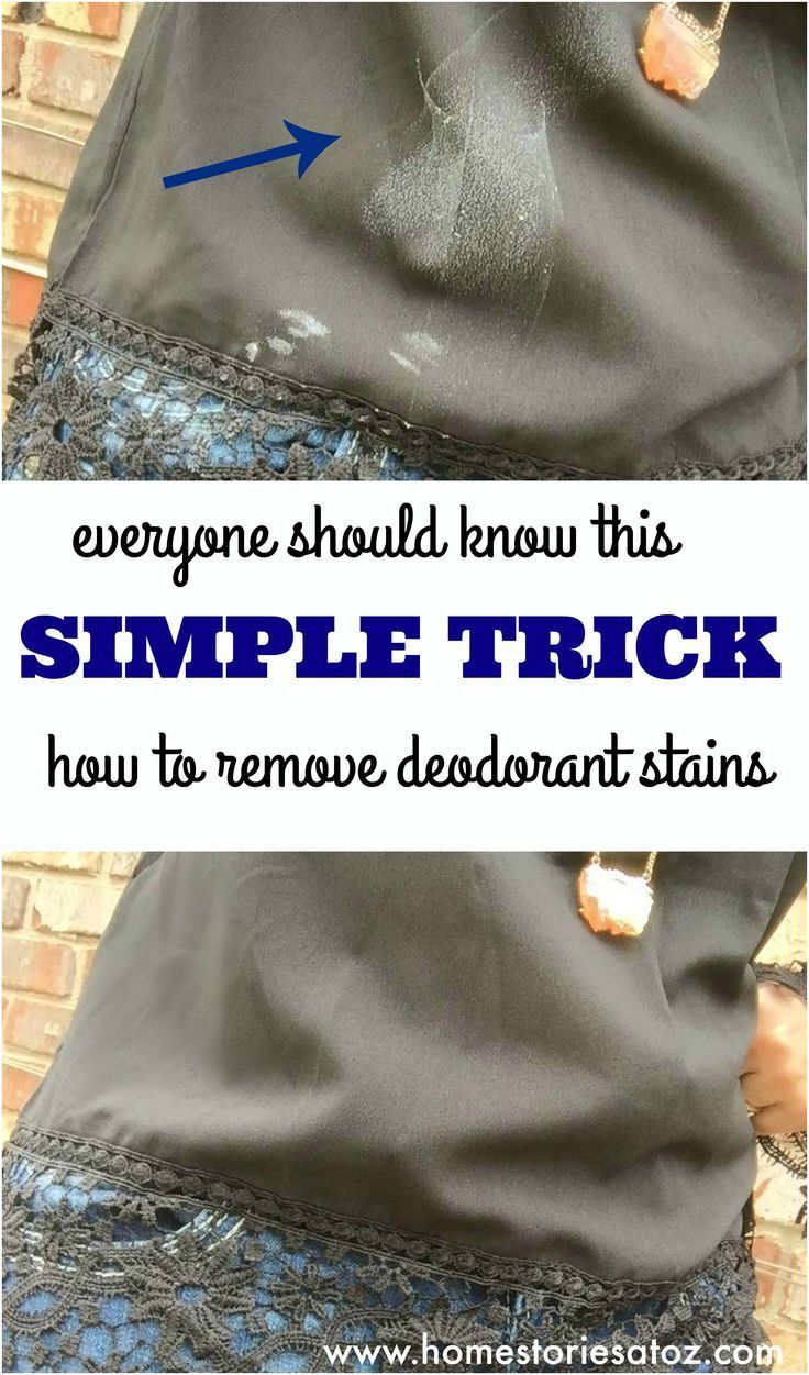 10 clothing hacks every woman should know remove for How to remove deodorant from shirt