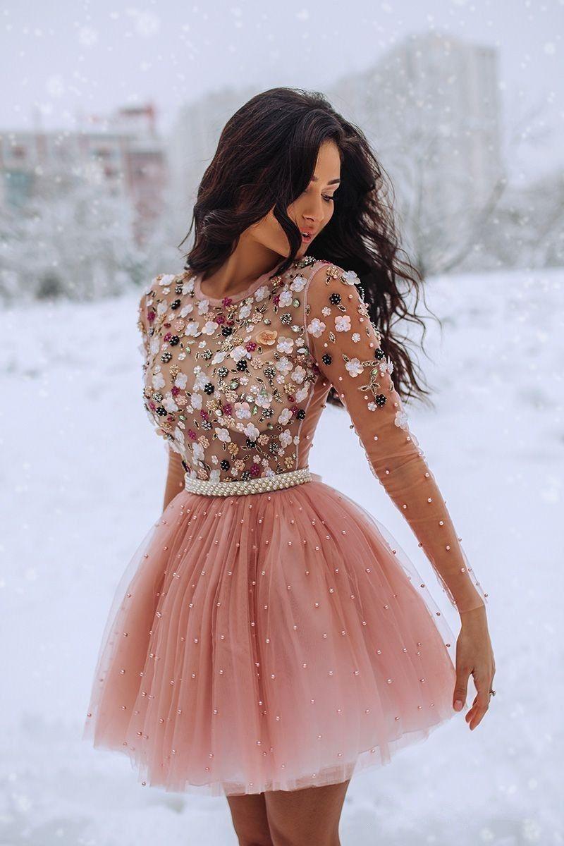 Pin by Esmeralda Cuellar on A | Mini prom dresses, Pink ...
