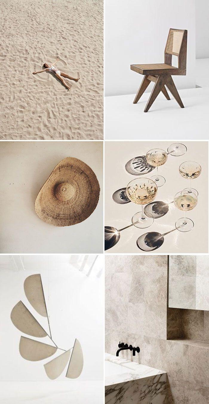 Neural Mood Board  Interior Styling sand beige brown