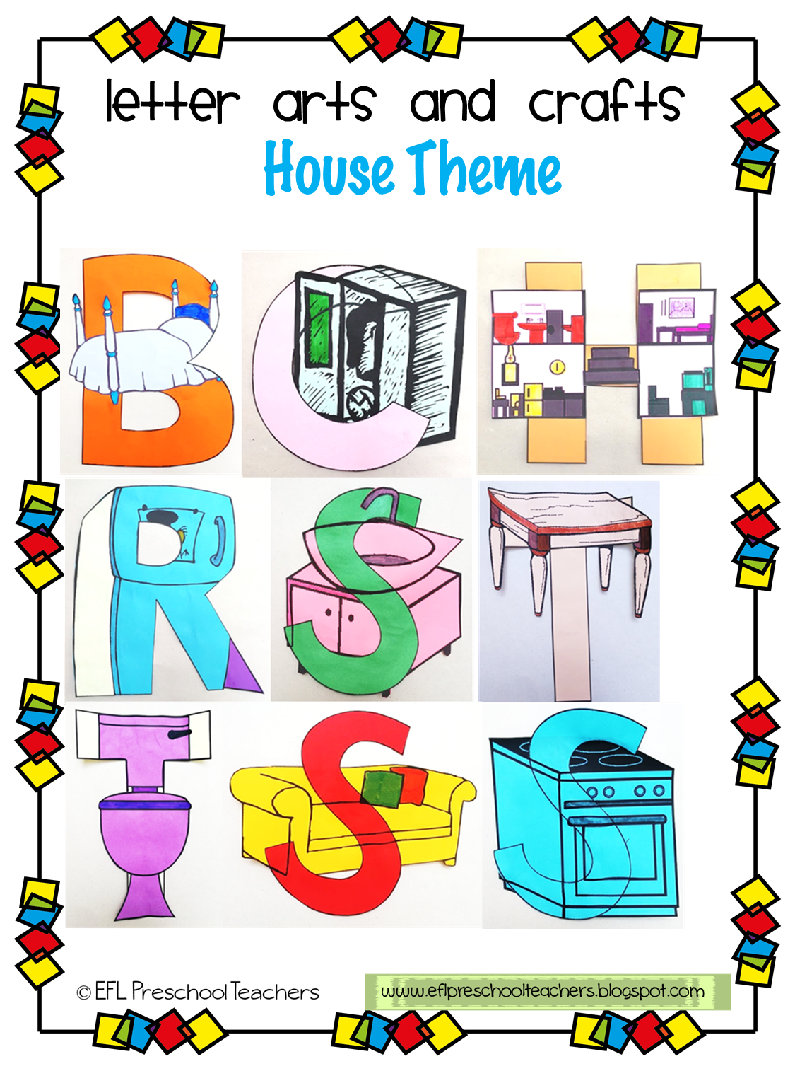 Esl Letter Arts And Crafts For The House Theme