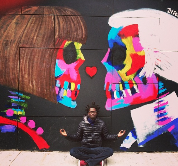 Bradley Theodore Paints Mural of Karl Lagerfeld and Anna Wintour