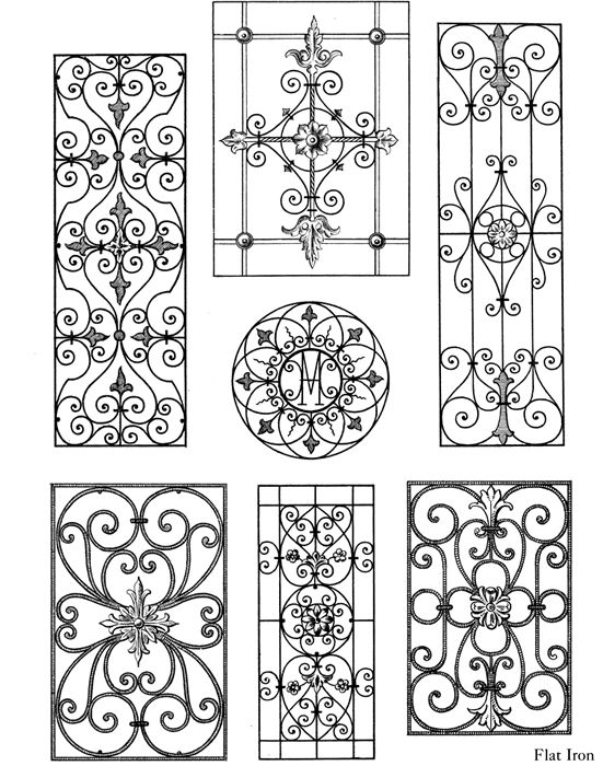 Traditional Ironwork Designs - Dover Publications | Design ideas ...