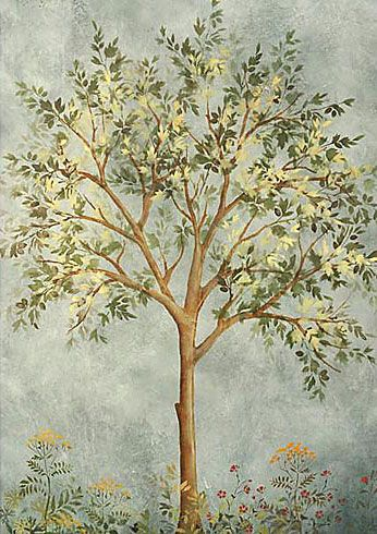 Large tree stencil for wall painting Reusable mural stencils at