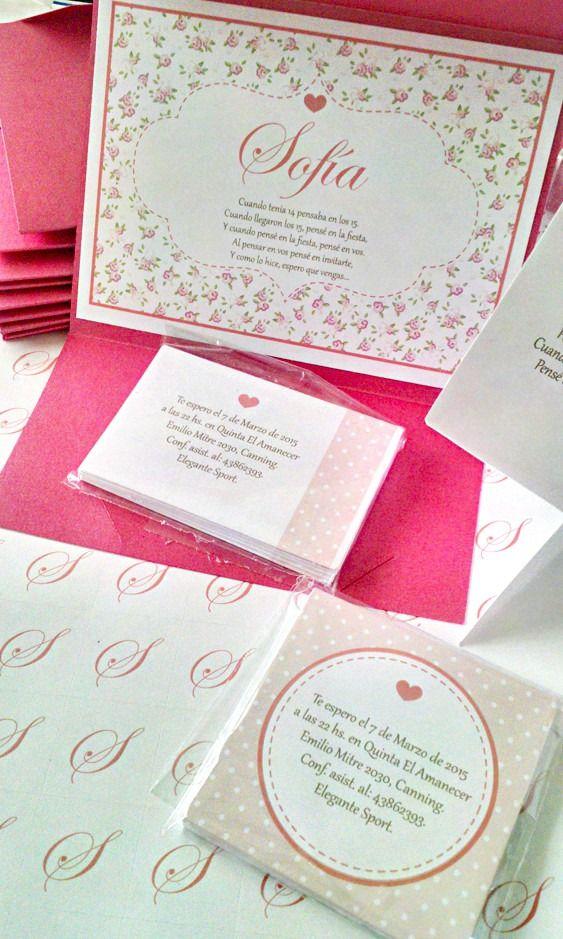 Participaciones invitaciones tarjetas de 15 a os 9 for Tarjetas de 15 anos vintage