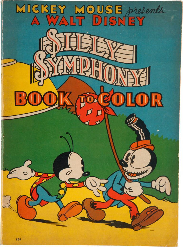 Whitman hot wheels coloring book - Silly Symphony Book To Color 660 Whitman 1934