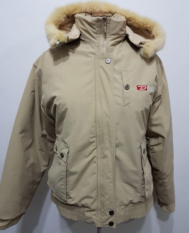 e17d17ed7ab Vintage Diesel jacket women's,Diesel bomber jacket,vintage trucker jacket,beige  bomber jacket in 2019 | clothes vintage | Winter jackets, Canada goose ...